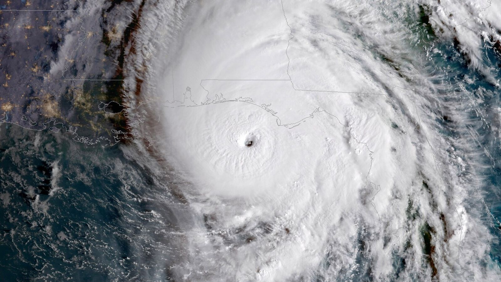 Imagen del huracán Michael