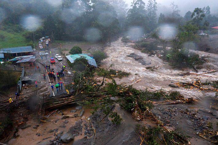 Desbordamiento del río Bambito en Panamá