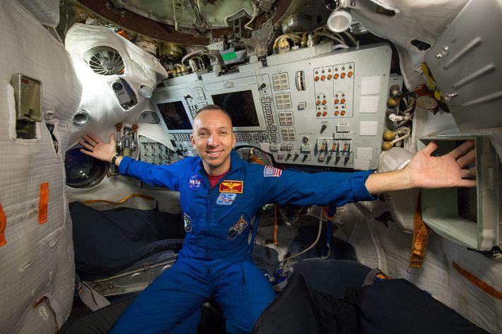 Fotografía del astronauta Randy Bresnik