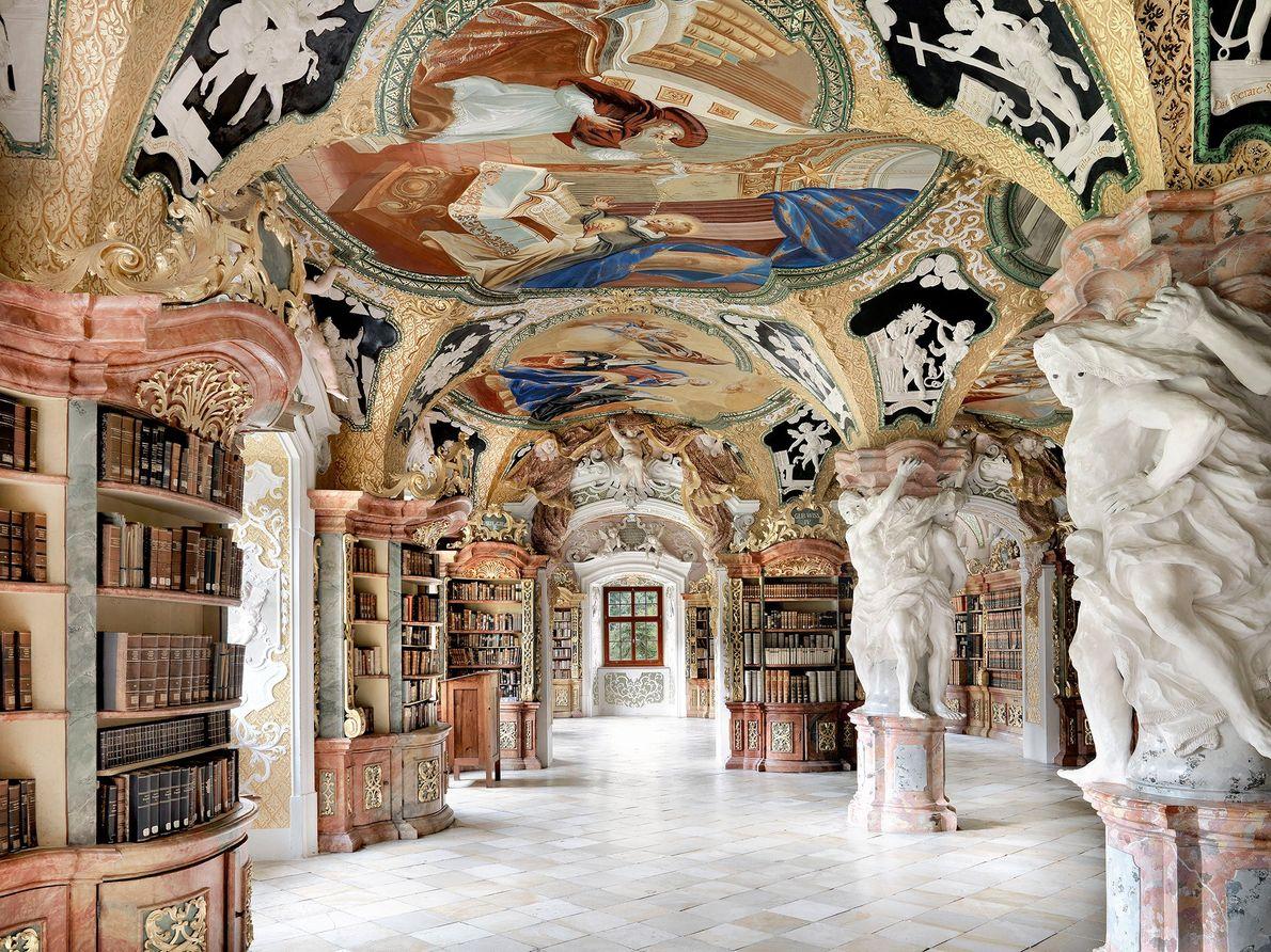 Bibliothek der Benediktinerabtei, Metten, Alemania