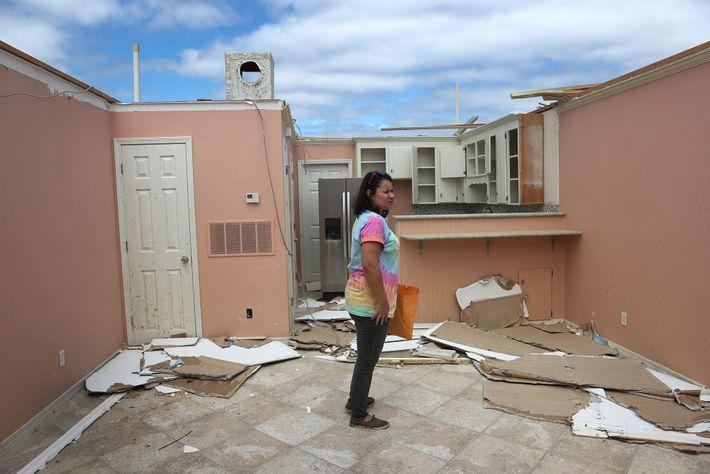 Cayo Perdido, Florida, tras el paso del huracán Sally