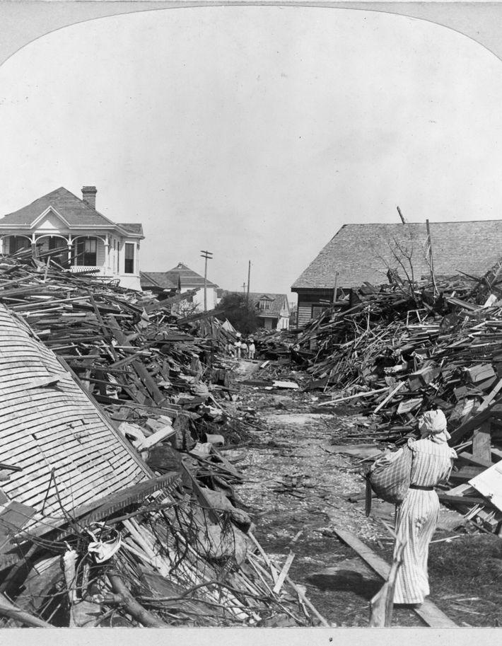 Huracán en Galveston, Texas