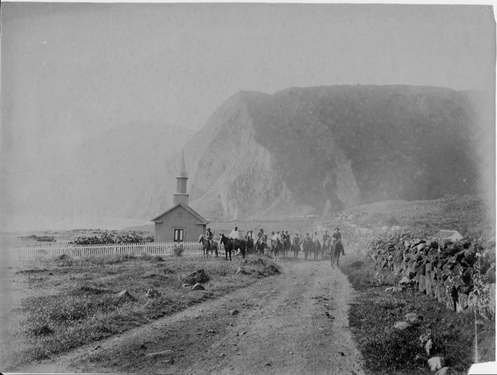 La iglesia de Siloé antes de 1885