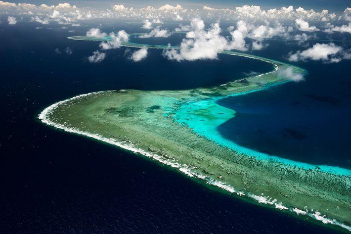 La Gran Barrera de Coral desde el cielo