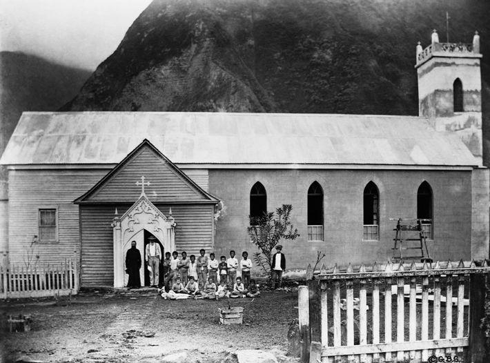 La iglesia de santa Filomena en el pasado