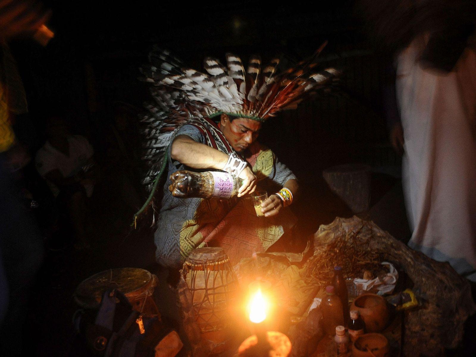 Miembro de la tribu huni kui