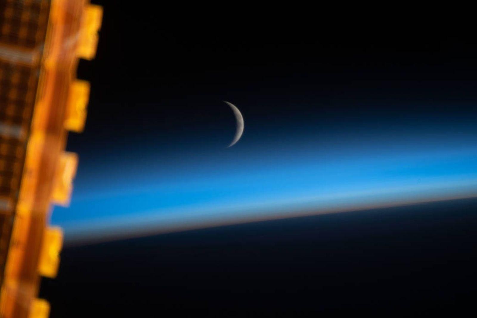 Luna gibosa creciente