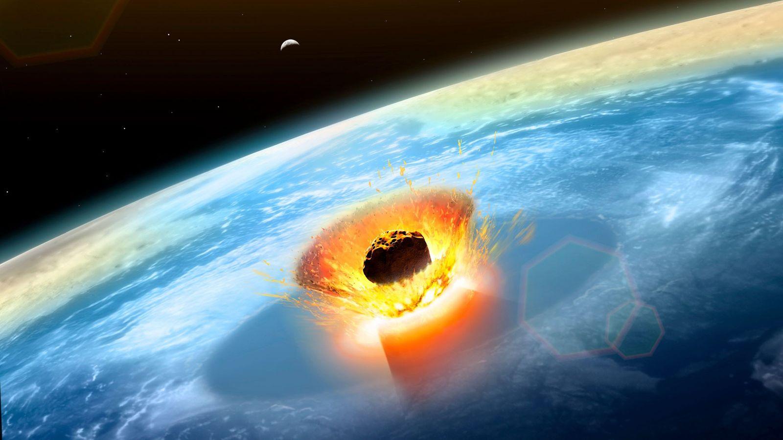 Impacto del asteroide en Yucatán