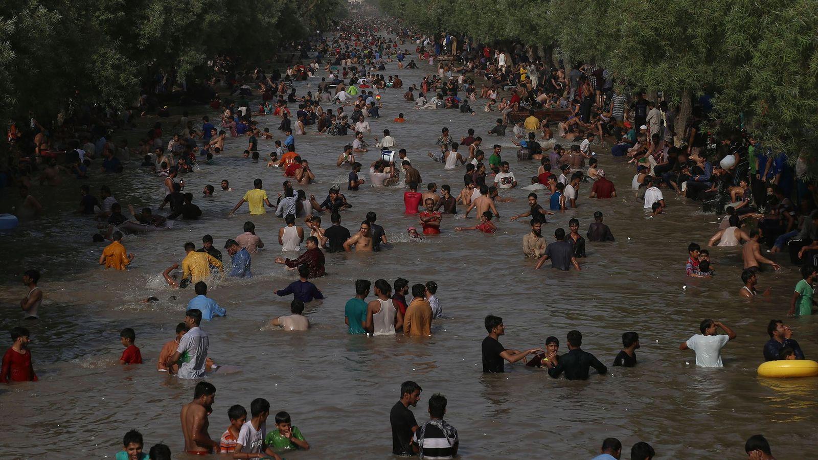 Ola de calor en Pakistán