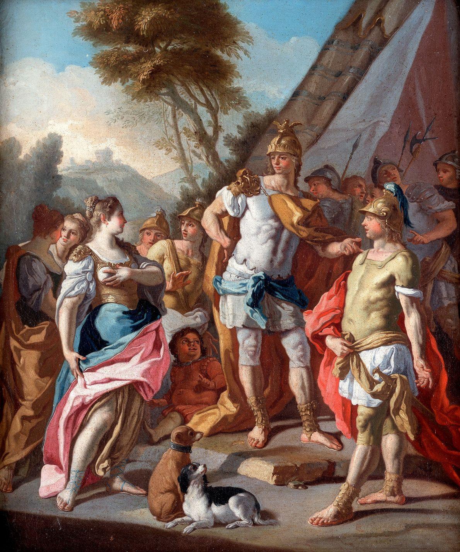 Alejandro Magno (derecha) y su general Hefestión (centro) eran amigos de la infancia y fueron compañeros …