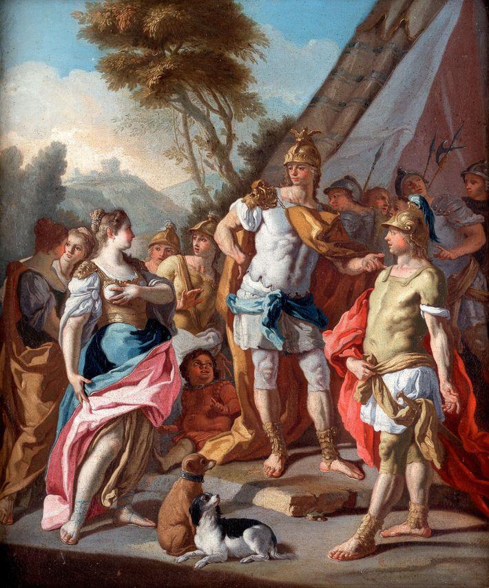 Alejandro Magno y Hefestión