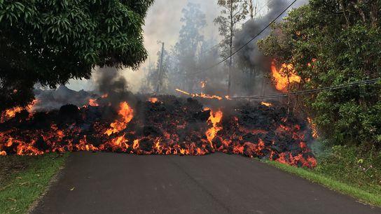 La lava de los volcanes de Hawái