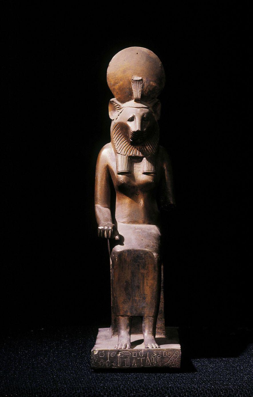 Las momias de león podrían estar vinculadas al culto a Sejmet, la diosa guerrera egipcia con ...