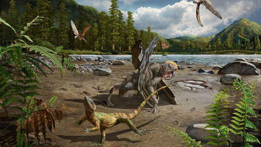 Estas huellas fósiles son las pruebas más antiguas de lagartos que corrían sobre dos patas