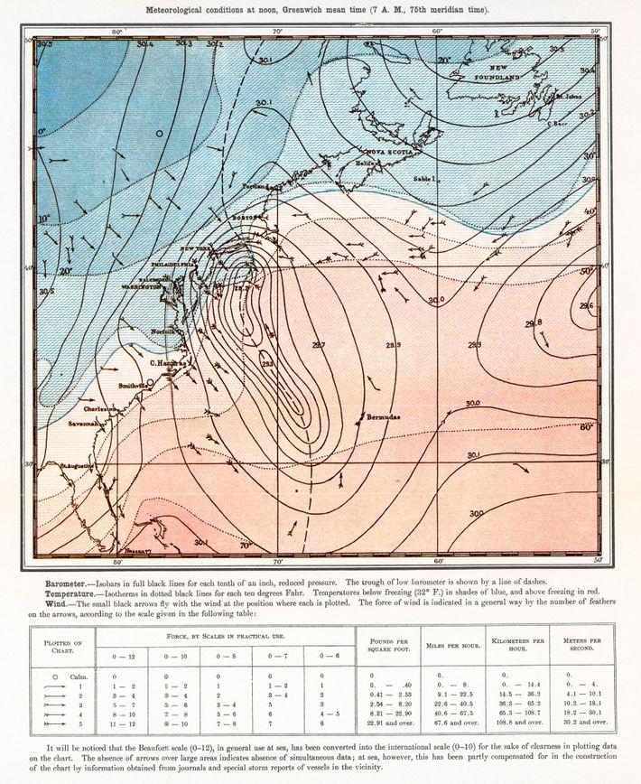 Primer mapa, 1888