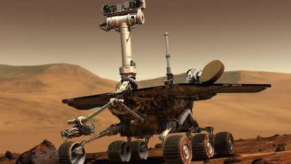 El rover de Marte Opportunity se apaga durante una tormenta de polvo