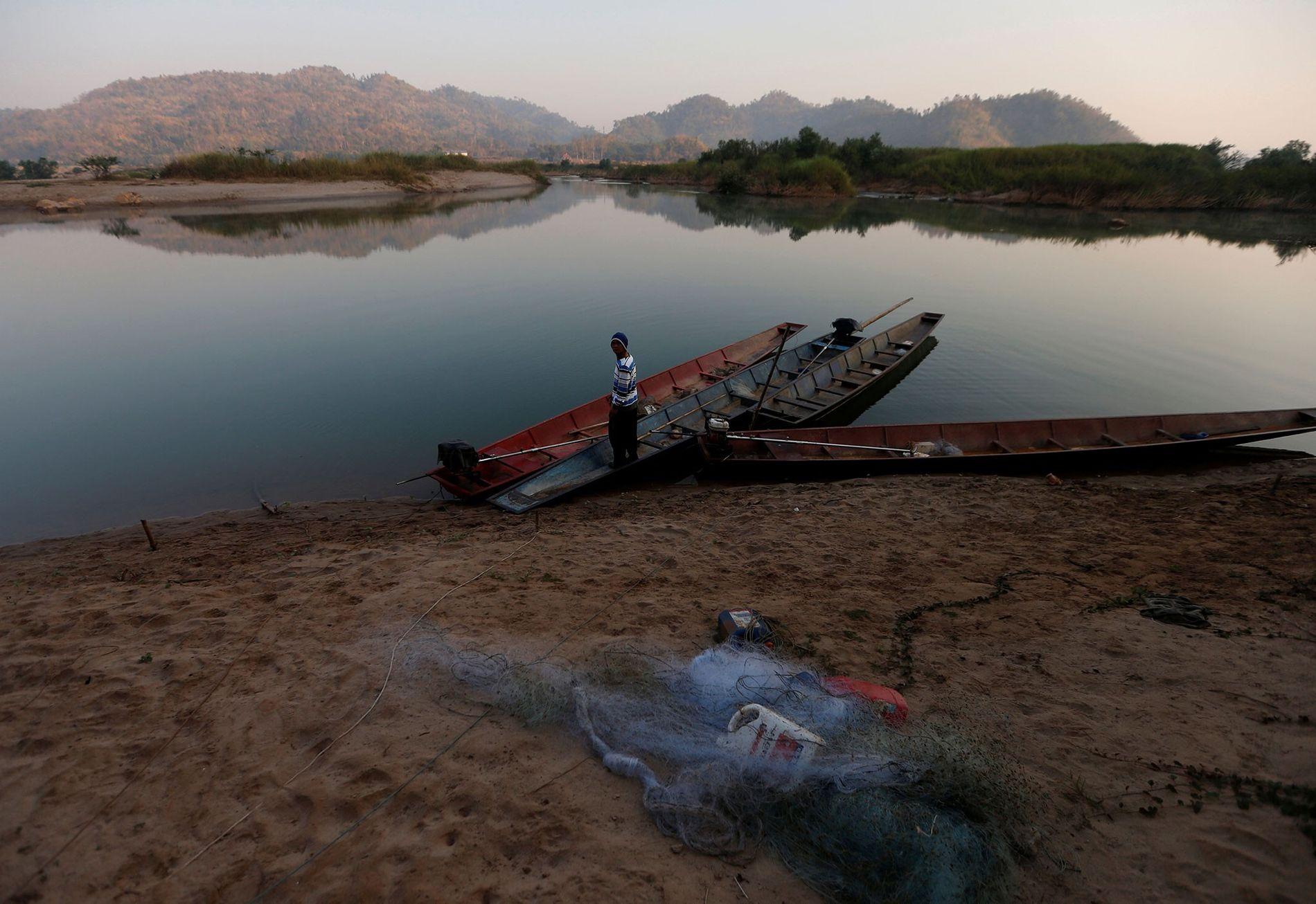 Pescador en el Mekong