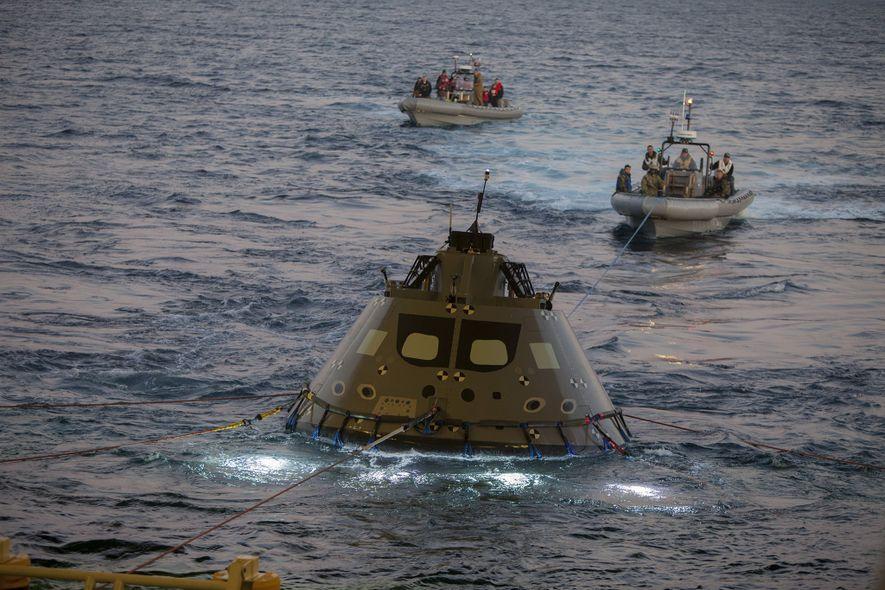 Un equipo de recuperación de la NASA y la Armada estadounidense ha pasado recientemente una semana …