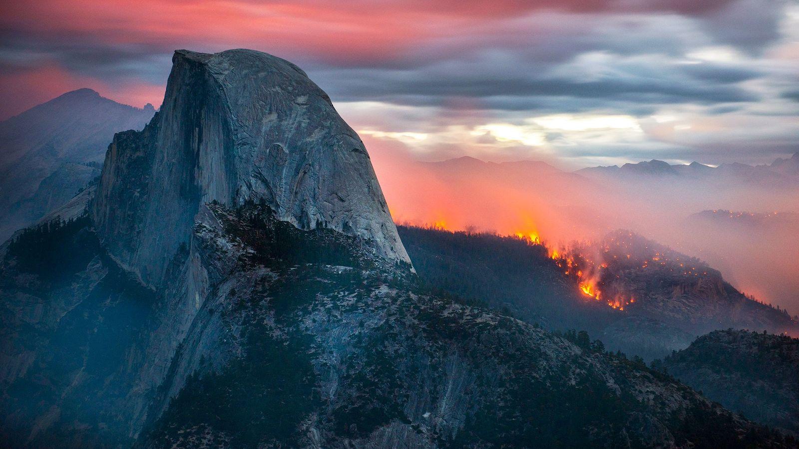 Incendio en Half Dome