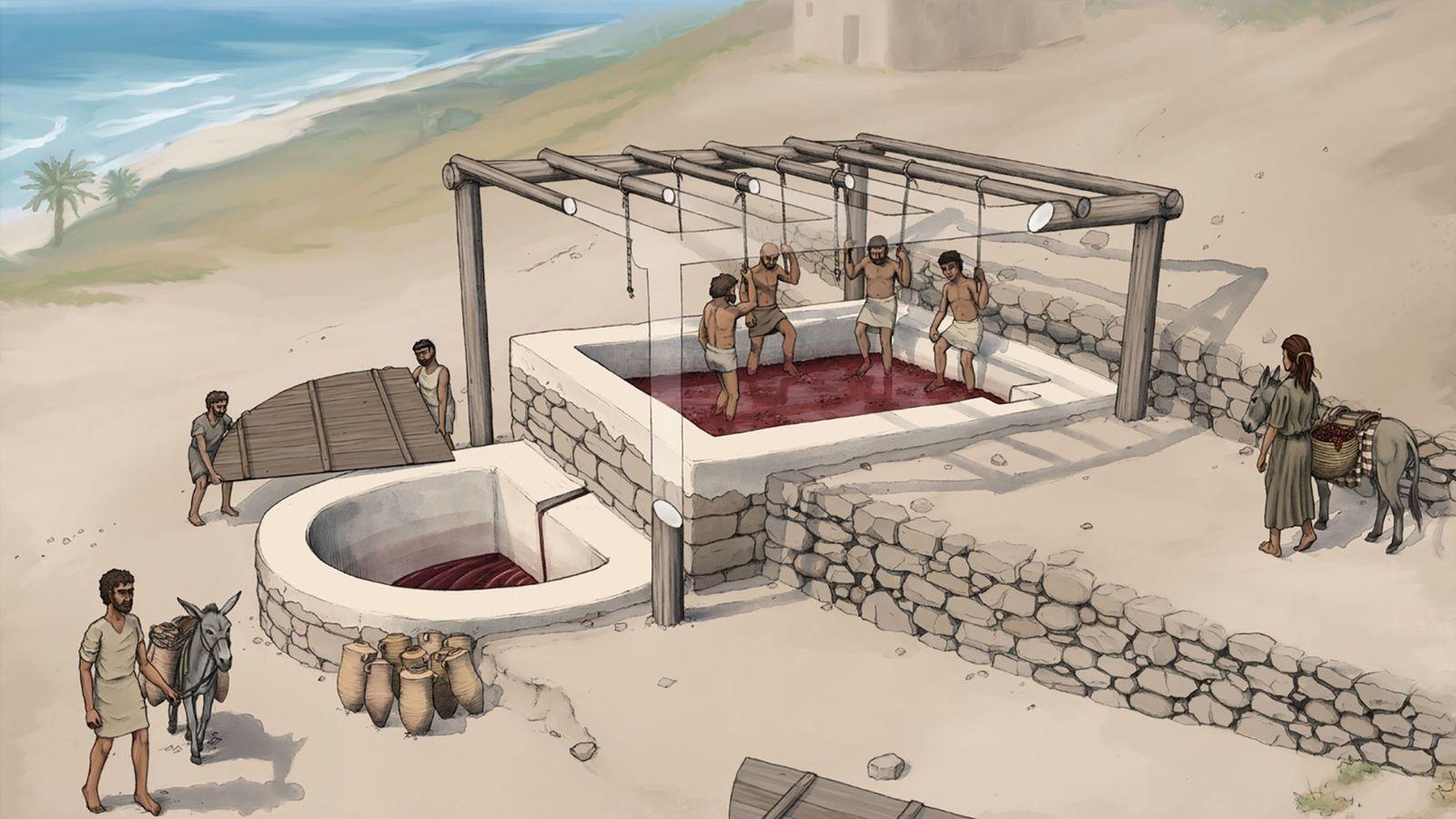 Prensa de vino en Tell el-Burak