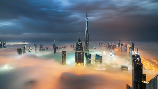 Niebla en Dubái