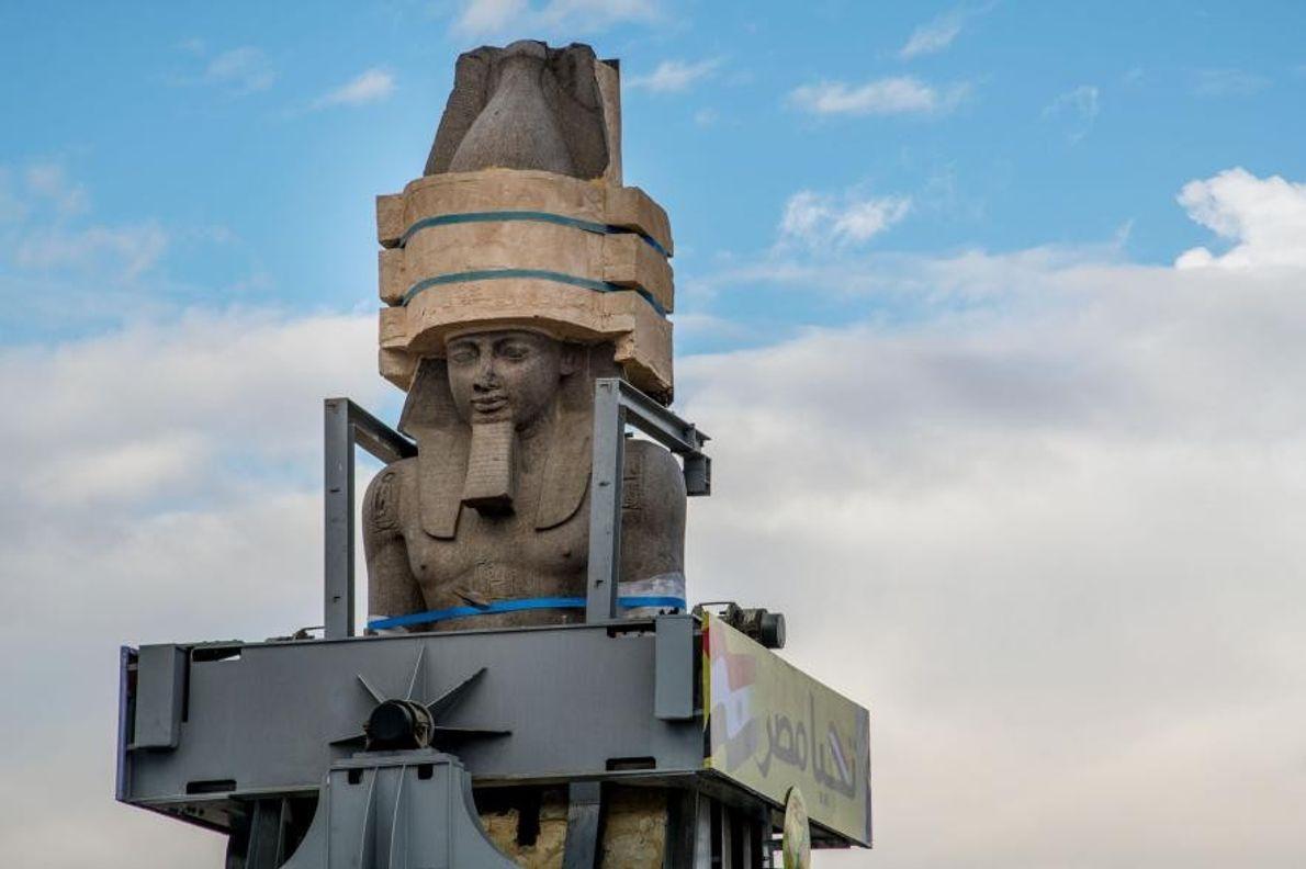La estatua de Ramsés II