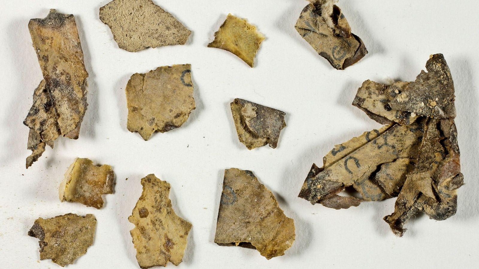 Fragmentos de los manuscritos del mar Muerto