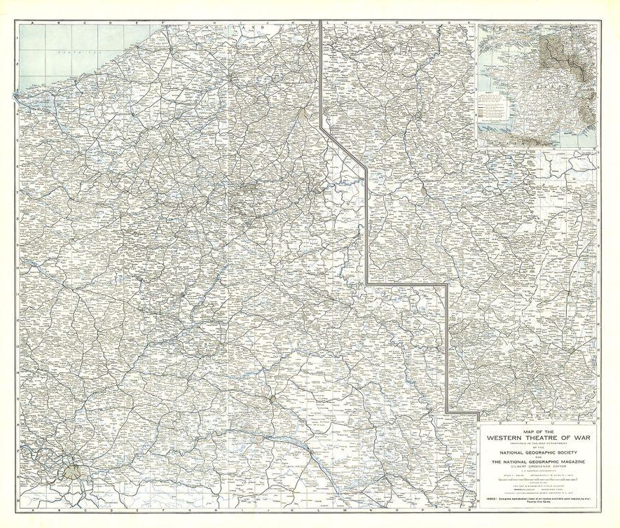 Este mapa suplementario de 1918 fue el primero producido por el departamento de cartografía de National ...
