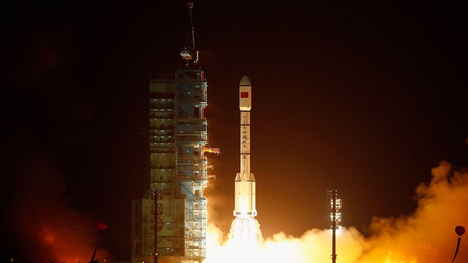 Cohete que transporta la Tiangong-1