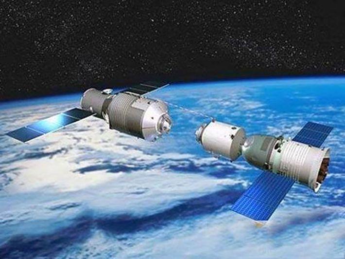 Una cápsula espacial tripulada