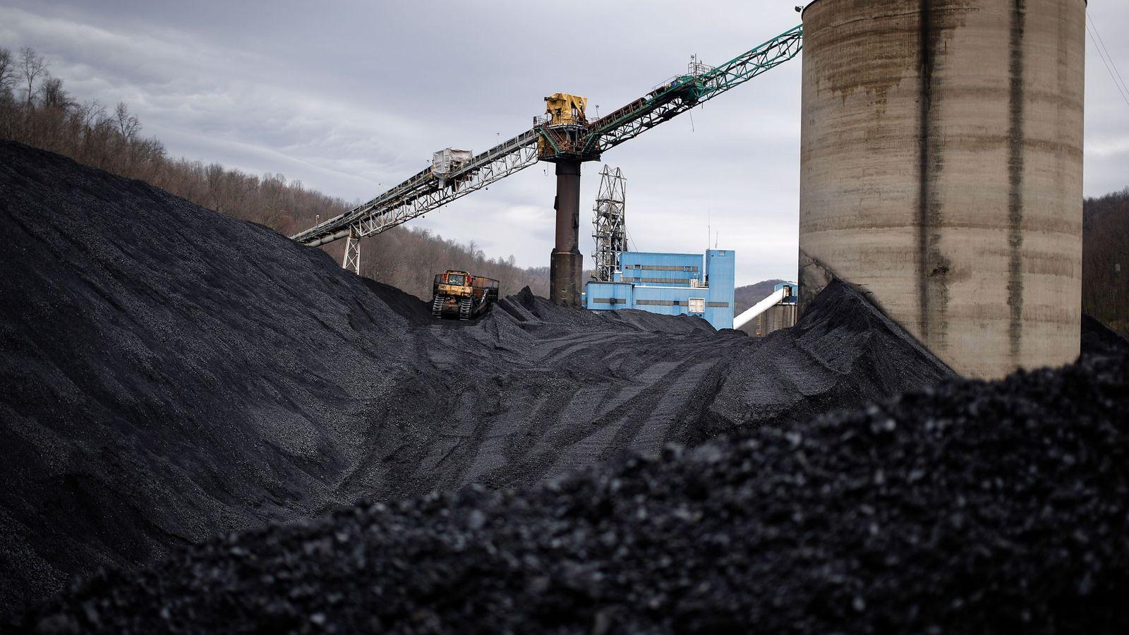 Carbón en una mina