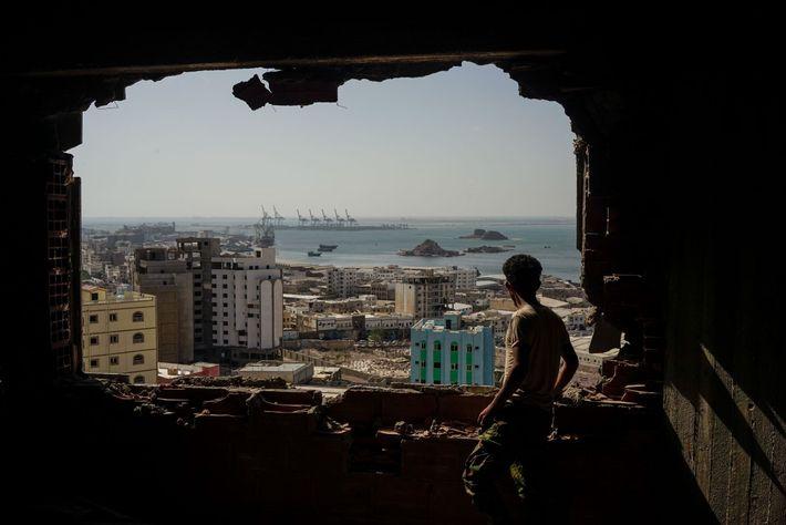 Un soldado yemení