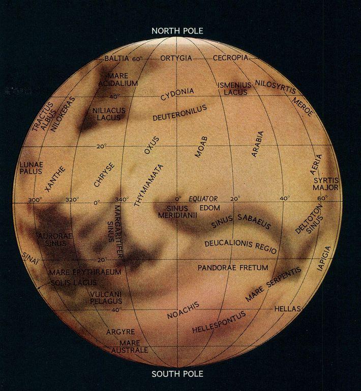 Mapa de Marte de 1967