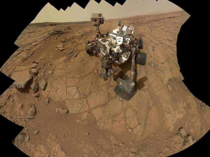 Un autorretrato del rover de Marte, Curiosity.