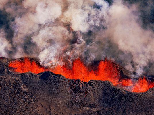 La ascensión del magma de este volcán islandés bate un récord de velocidad