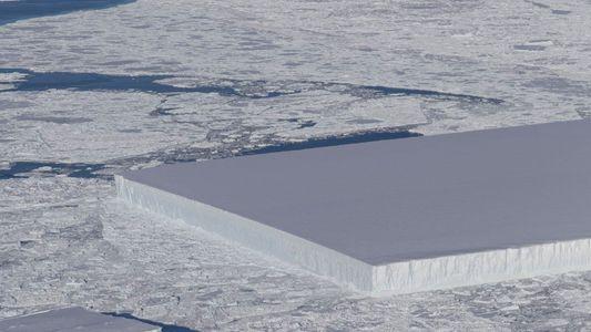 Este iceberg tiene una forma rectangular casi perfecta. ¿Por qué?
