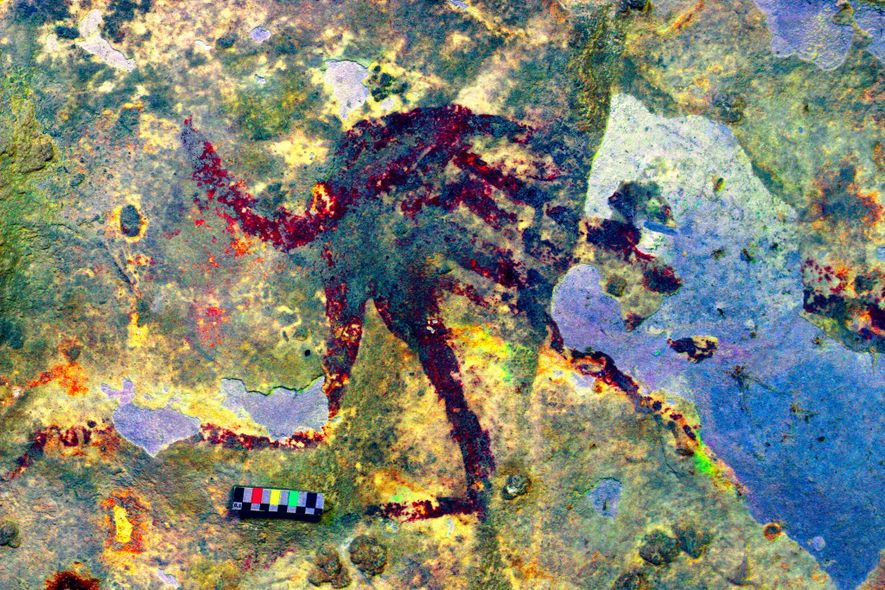 Esta pintura rupestre podría ser la escena de caza más antigua del mundo