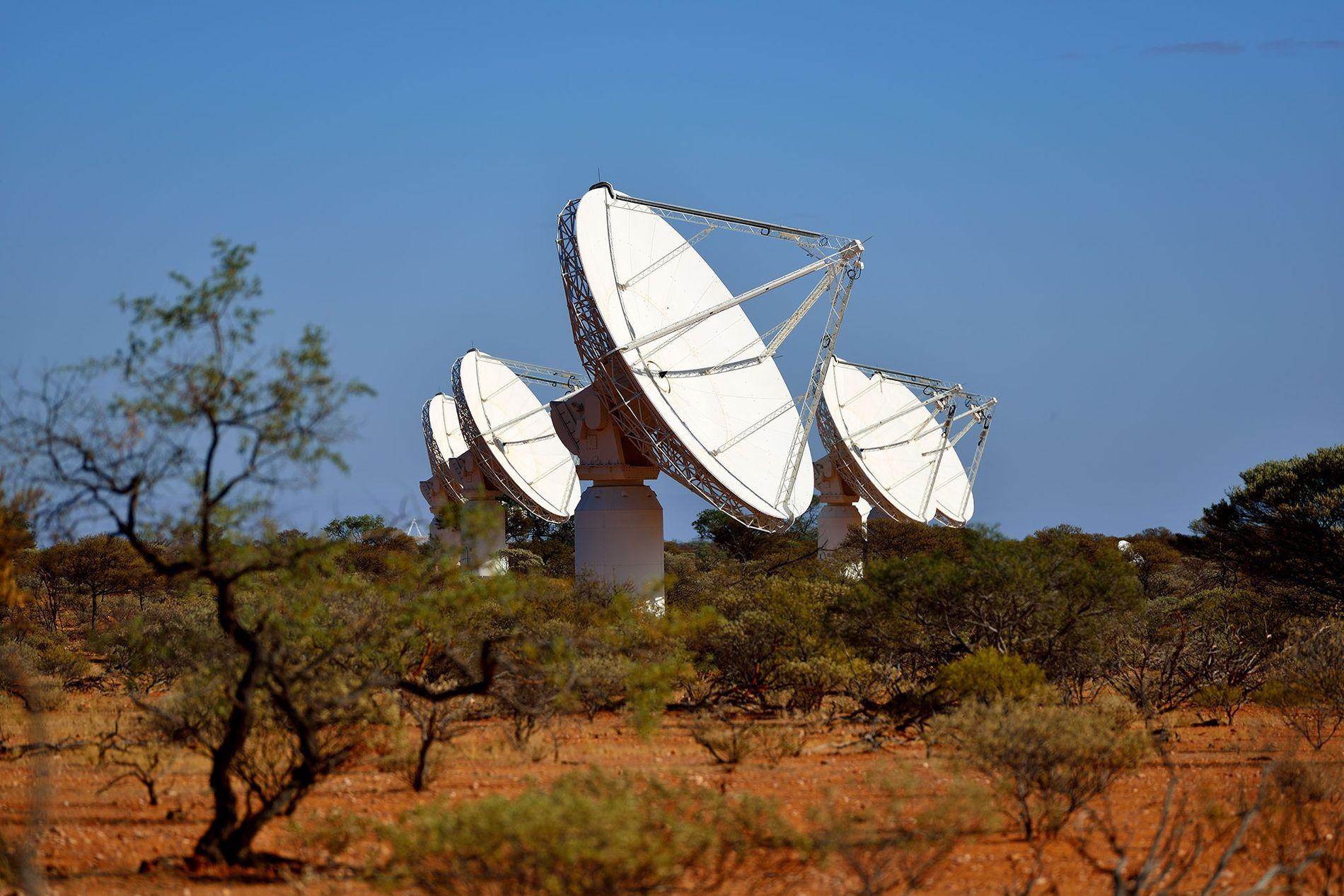 Los radiotelescopios ASKAP