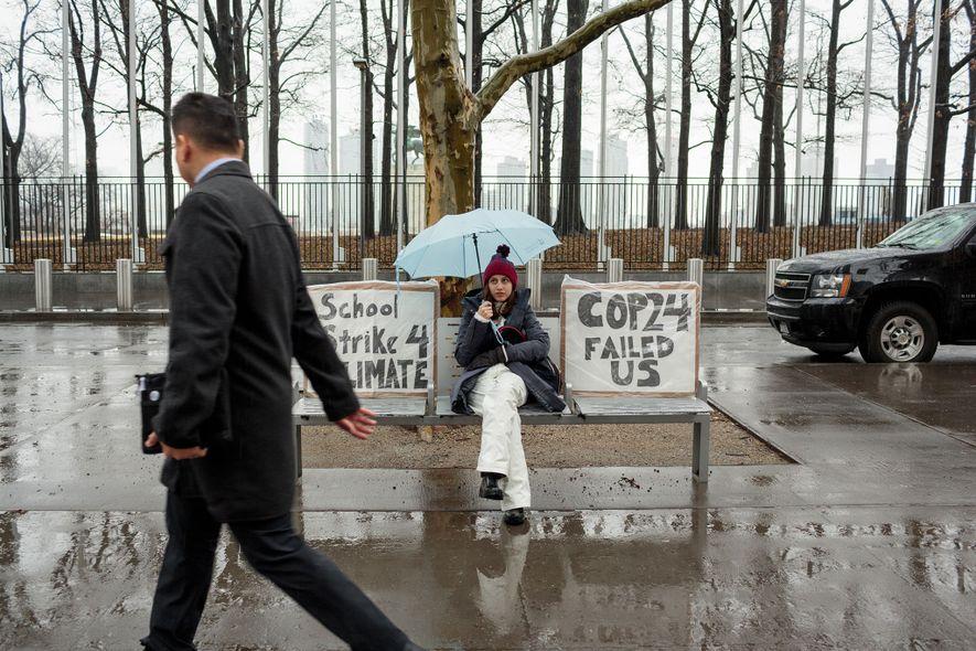 Alexandria Villaseñor (13) participa en la huelga escolar por el cambio climático todos los viernes. Cada ...