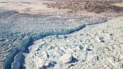 Este glaciar de Groenlandia está creciendo, pero esto no significa el fin del deshielo