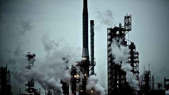 Una central de carbón