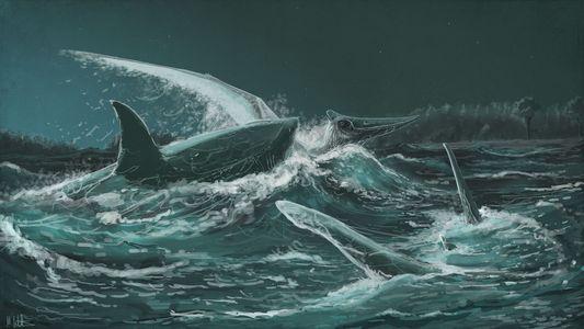 Estos tiburones prehistóricos se alimentaban de reptiles voladores
