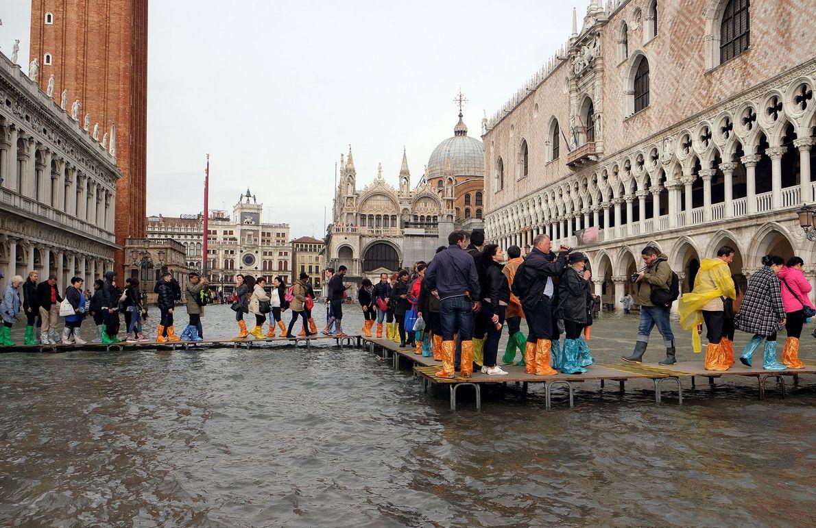 Plaza de San Marcos inundada