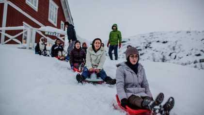 La vida de los refugiados más allá del Círculo Polar Ártico