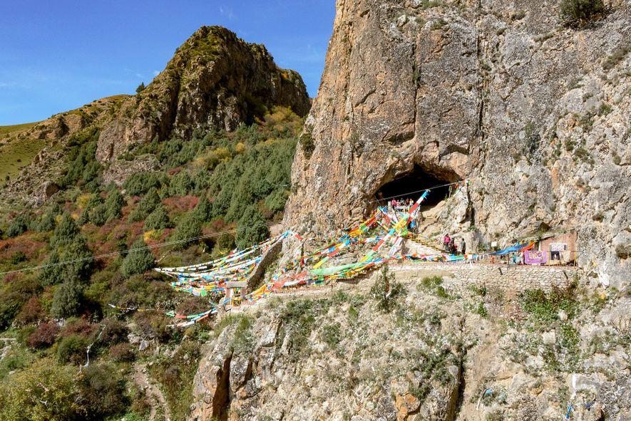 En 1980, un monje descubrió la insólita mandíbula en la cueva de Baishiya Karst, que se ...