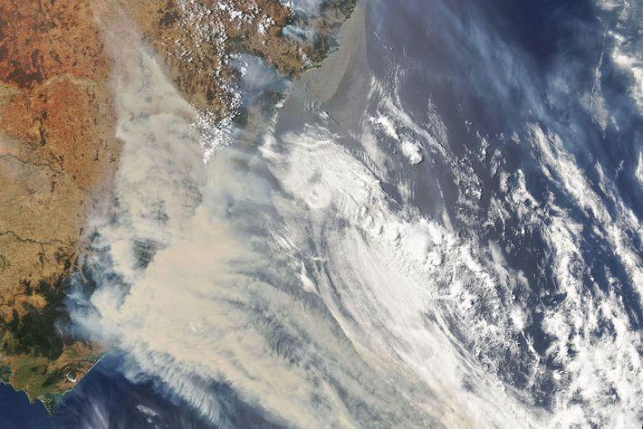 Nubes de humo, Australia