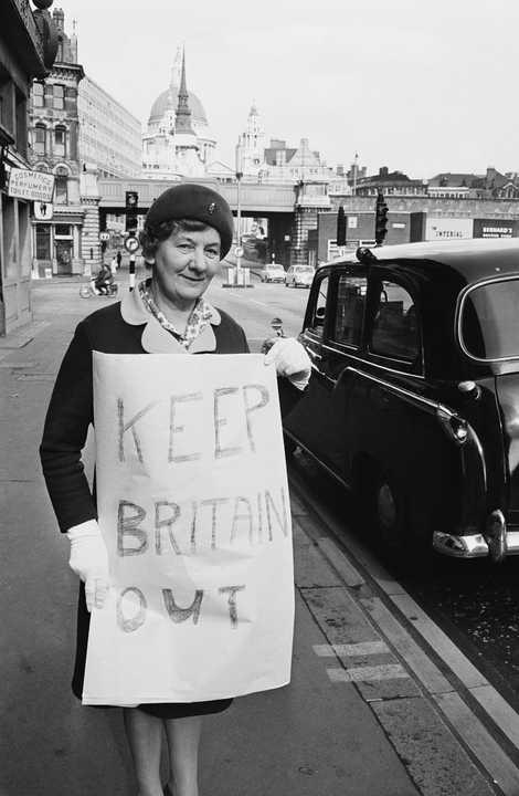 Antes del Brexit, británicos como Georgina Pellham-Kept protestaron contra la inclusión original del Reino Unido en la UE a principios de los años 70. Reino Unido se unió a la UE en 1973.