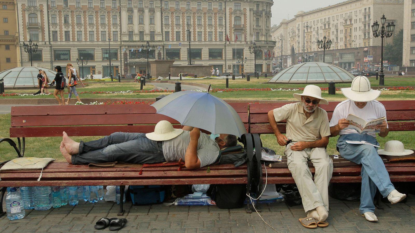 Ola de calor en Moscú