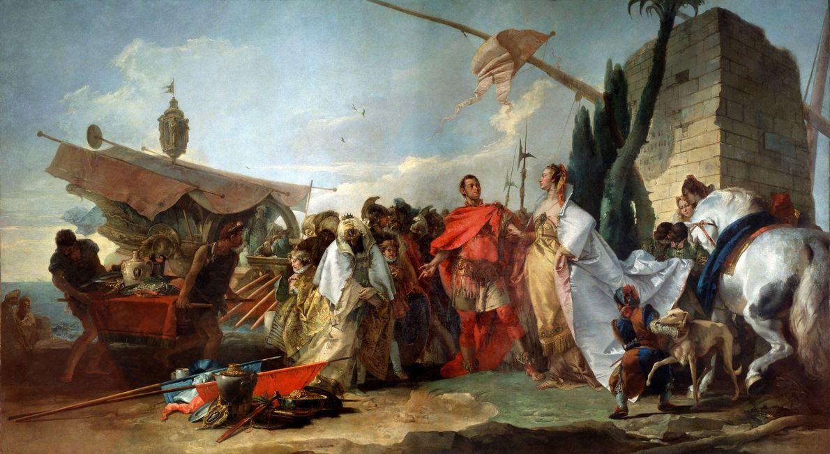 En el 48 a.C., una Cleopatra de 21 años rivalizaba con su hermano pequeño por el …