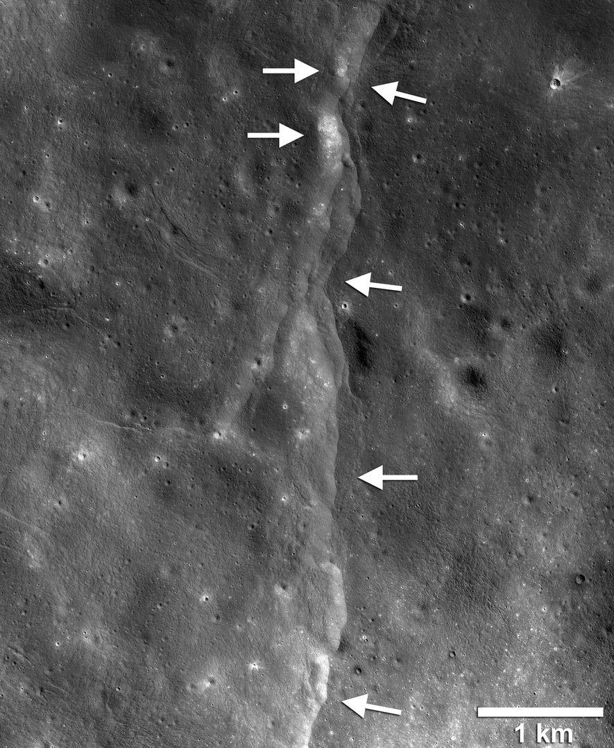 El mapa sísmico creado a partir de imágenes de la NASA muestra el movimiento previsto de ...